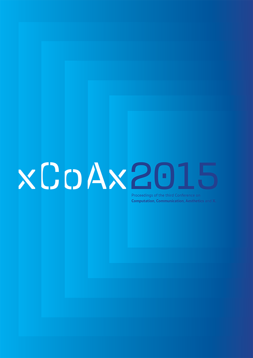 Cover of the xCoAx 2015 proceedings